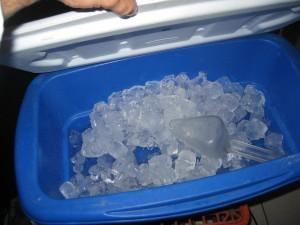 Mal uso del cucharón del hielo