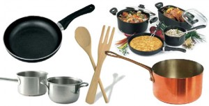 Cuidado con los utensilios y equipos utilizados para cocinar