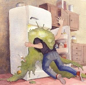 ¡No estamos solos! ¿habitantes en la refrigeradora?